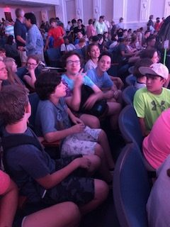 The cool dudes in the worship center.