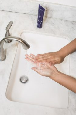 gray faucet